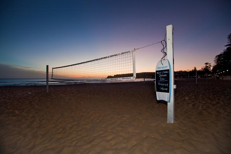 Beach Volleyball Court Before Sunrise