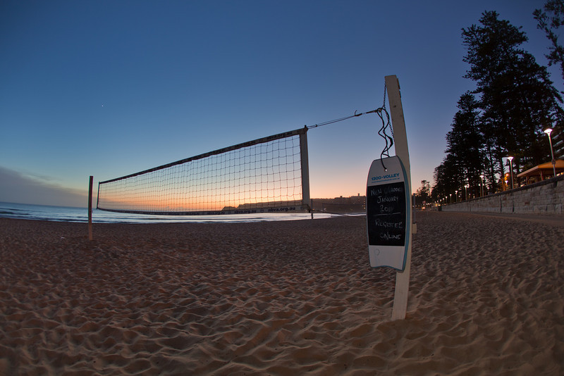 Beach Volleyball Court Before Sunrise