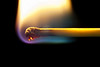 A Macro of a burning match using a sigma 105mm lens and extension tubes