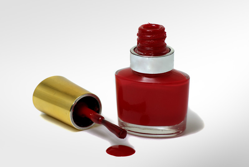 Isolated Red Nail Polish