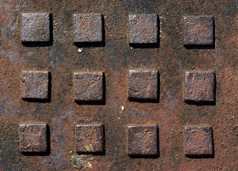 Textures: Manhole Cover Square Pattern