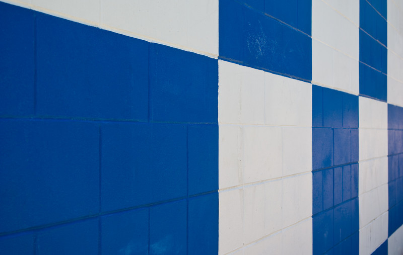 Painted Geometric Patterns on a Wall