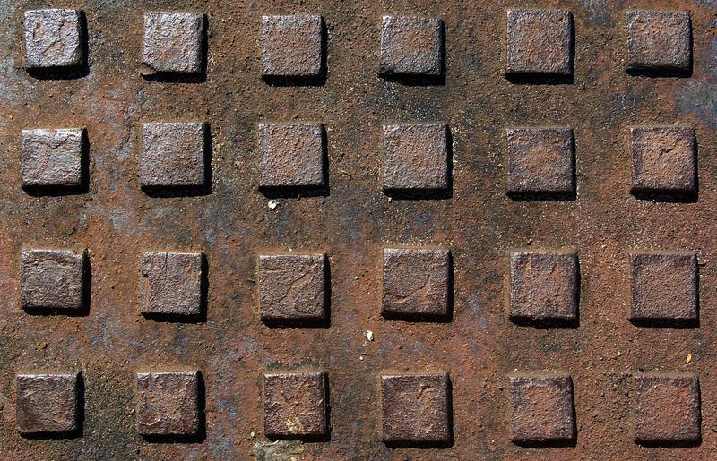 Textures: Manhole Cover Diamond Pattern