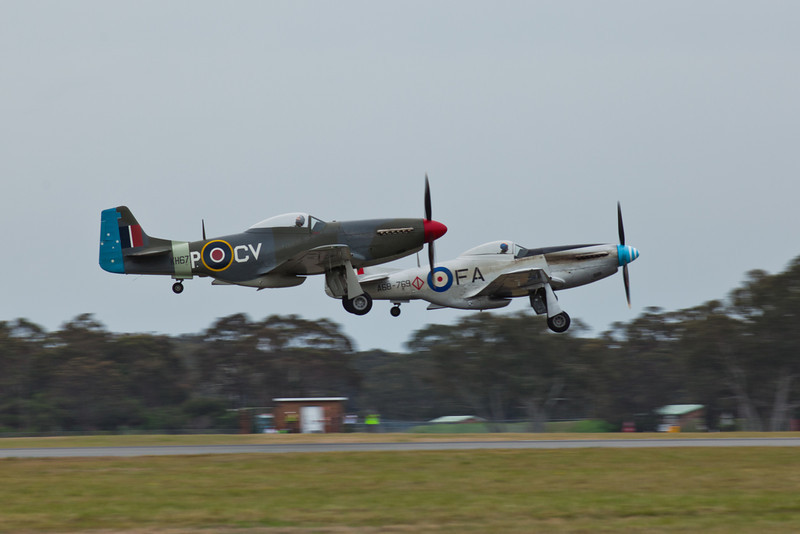 A Pair of Commonwealth CA-18 Mustang 21 (P-51D)