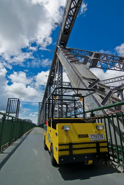 Yellow Buggy on Story Bridge, Brisbane