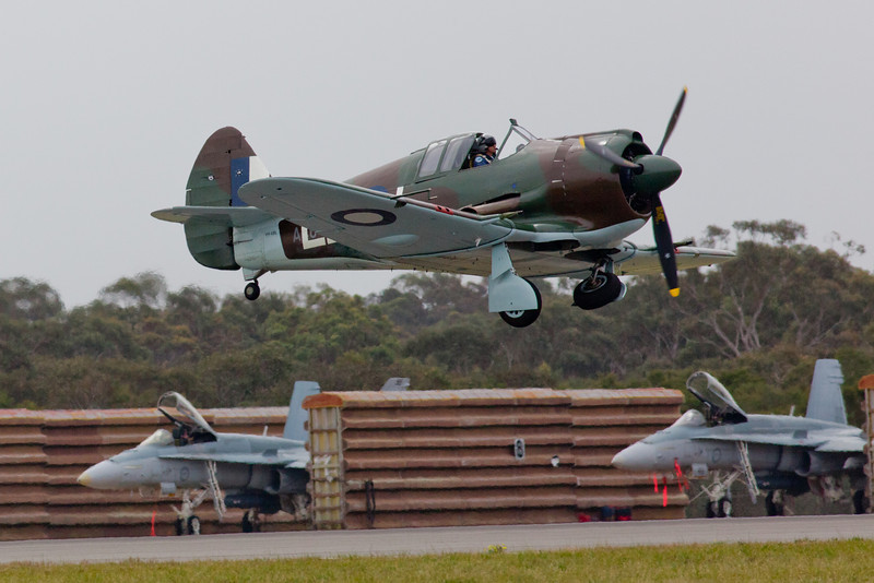 Commonwealth CA-12 Boomerang Taking Off and retracting its Undercarriage