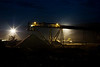 Coal Stock Pile and Conveyor at Night