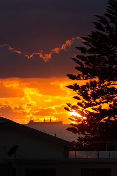 Hugging the Horizon at Dawn