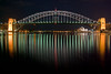 Sydney Harbour Bridge and Opera House from Blues Point