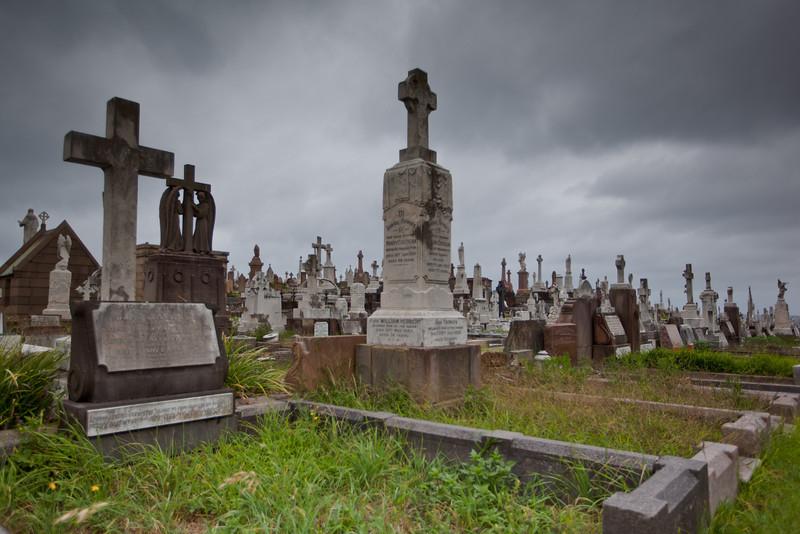 Cemetery on an Overcast Day