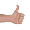 Isolated Hand Giving Thumbs Up Sign