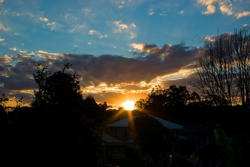 Sunset over the Northern Suburbs