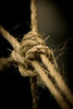 Sisal rope With a knot it it