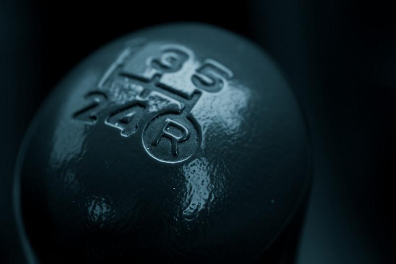 Manual gear knob. Monochrome toned.