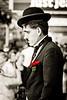 Charlie Chaplin Impressionist in Queen Street Mall, Brisbane