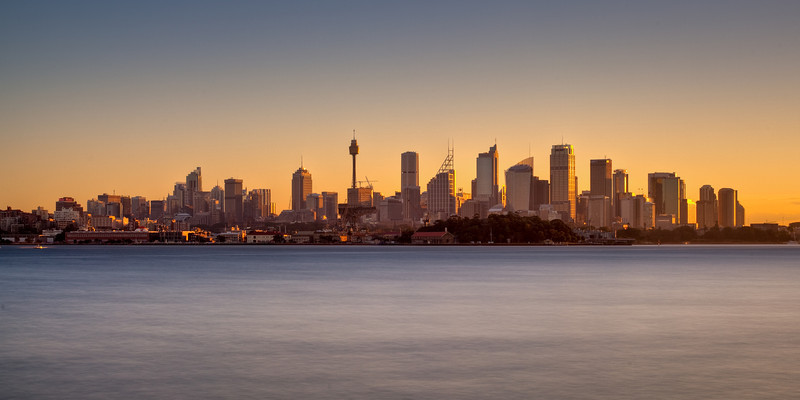 Sydney Skyline from Bradley's Head at Sunset