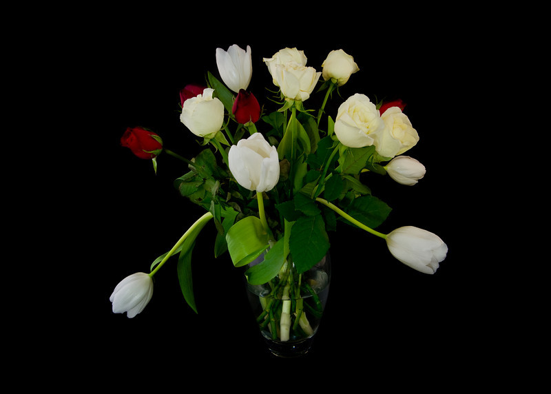 Tulips and Roses in a Vase