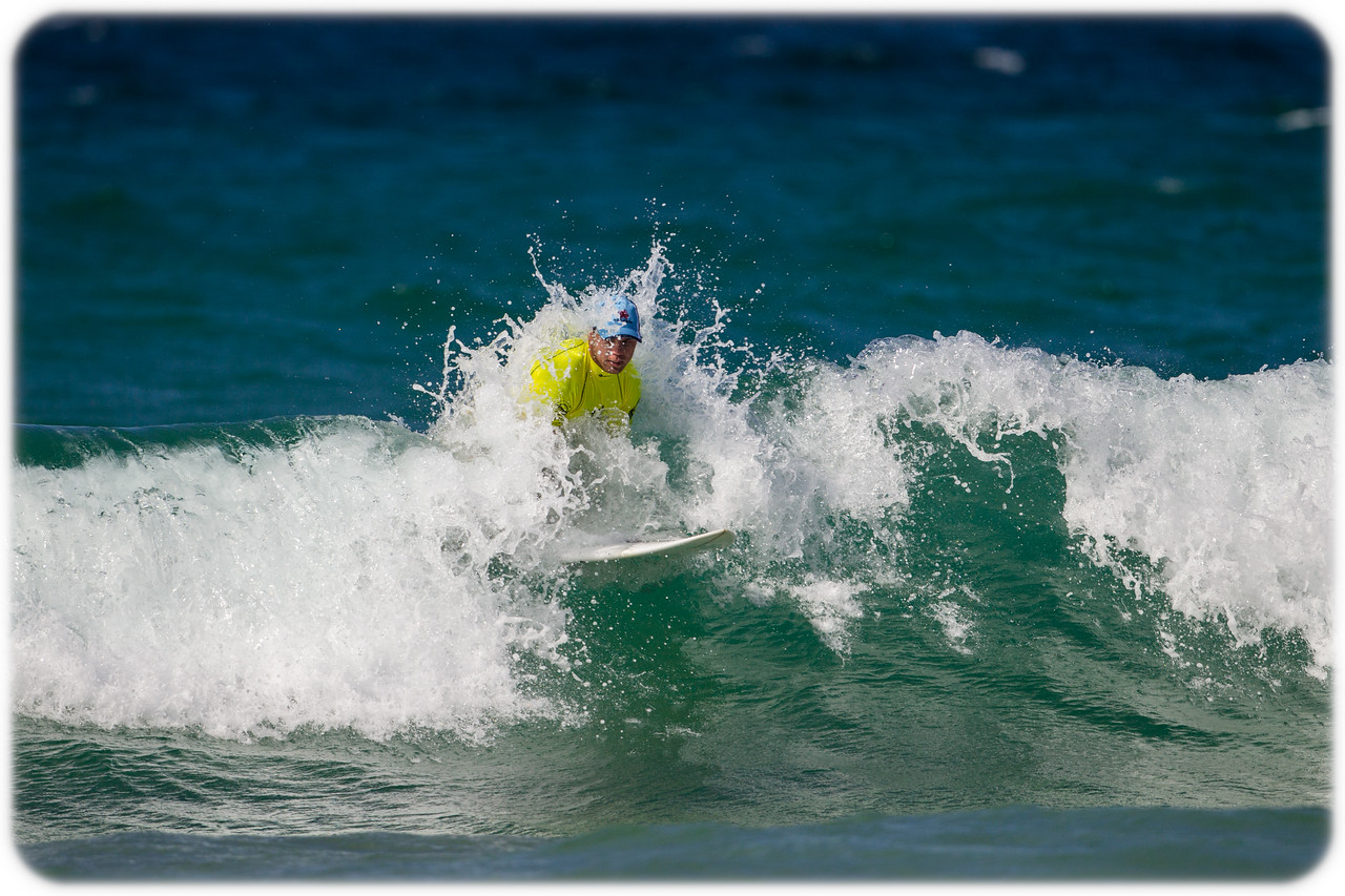 Surfers Against Suicide: NSW Waratahs and Wallaby Great Phil Waugh forgets that he is not on a bodyboard.