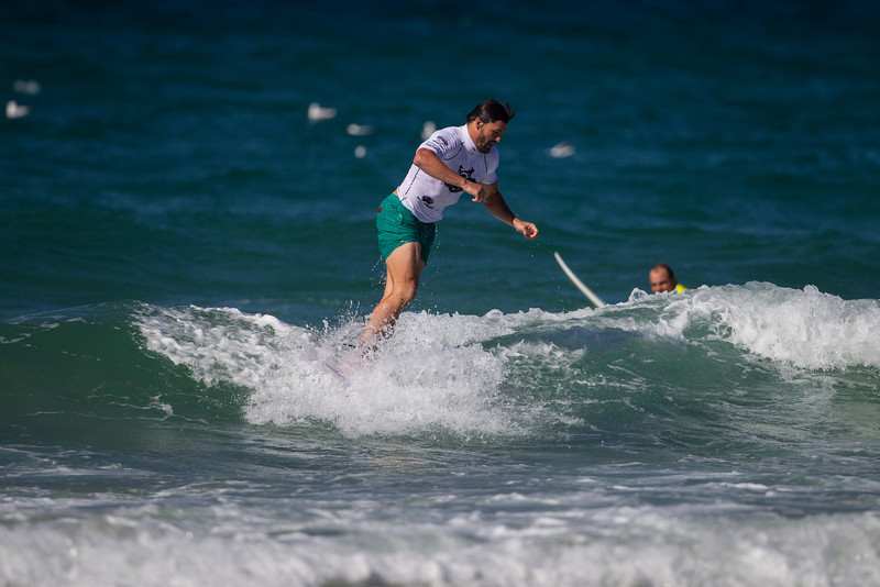 Surfers Against Suicide: Adam Ashley-Cooper takes a dive, while a bemused Phil Waugh looks on