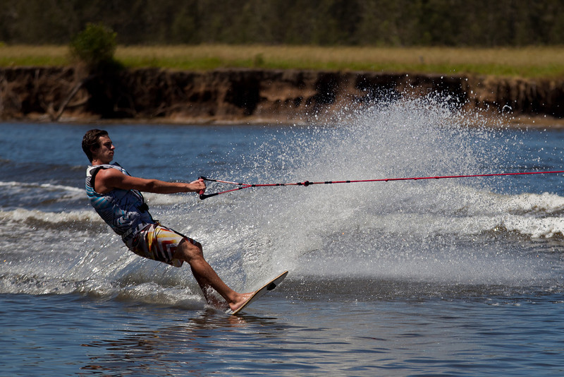Skier on the Wallamba River