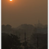 Sun rising throughh the smog over Singrauli