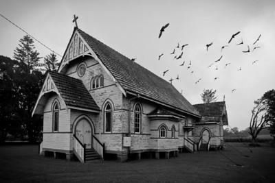 Roman Catholic Church, Broadwater, NSW (and pigeons)