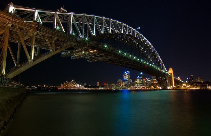 Sydney Harbour and City from Luna Park at Night