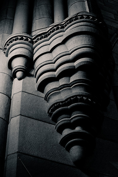 Stonework in the shadows