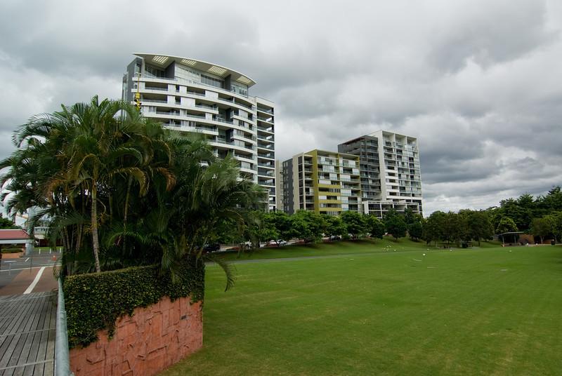 Modern Residential Blocks at Roma Street Parklands
