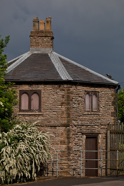 Stone Gatehouse at Dudley Zoo on an Overcast Day