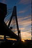Anzac Bridge at Sunset in Winter