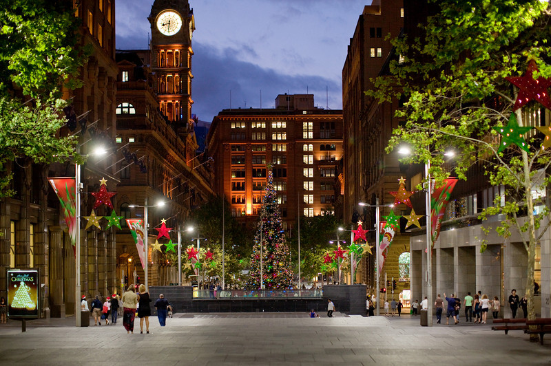 Martin Place, Sydney just after sunset