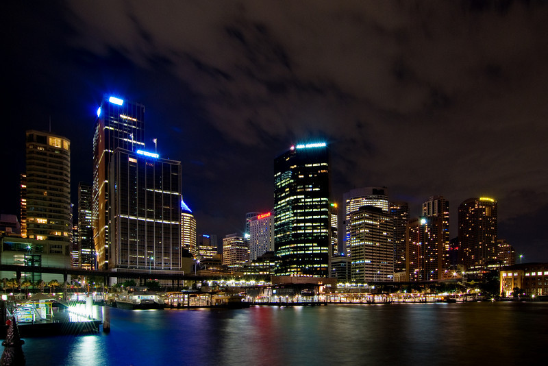 Sydney Skyline and Circular Key Nightscape