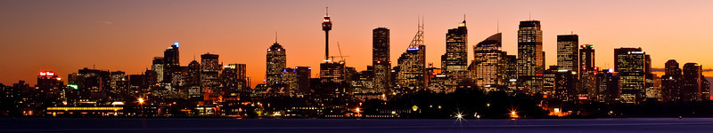 Sydney at Sunset<br /> Panorama from Bradley's Head