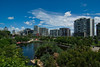 A view across Roma Street Parklands in Brisbane