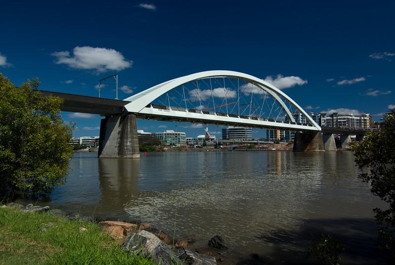 The Merivale Railway Bridge Over the Brisbane River