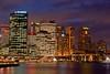 Colourful Sydney Skyline at Night