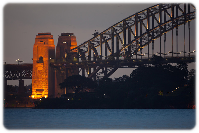 Sydney Harbour Bridge Viewed from Bradley's Head (near Taronga Zoo)