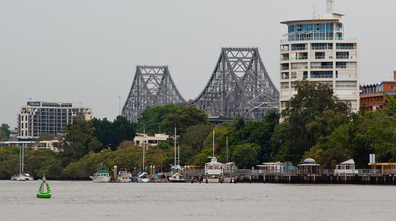 Story Bridge, Brisbane, on a Gloomy Day