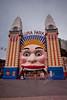 Luna Park Clown on an Overcast Day