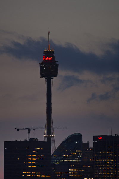 Sydney Tower from Athol Bay