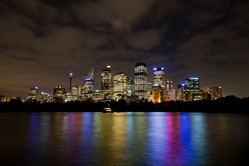Sydney Skyline at Night from Macquaries Point