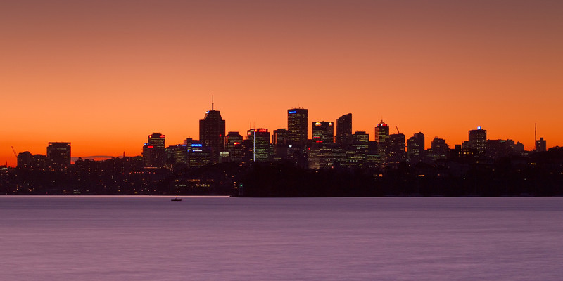 North Sydney at Sunset from Bradley's Head