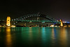 Sydney Harbour Bridge at Night Viewed from the Opera House