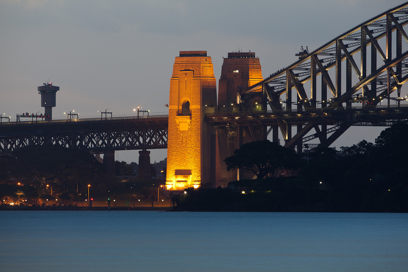 Syndey Harbour Bridge at Night from Athol Bay