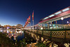 Pyrmont Bridge With Monorail and Darling Harbour Just After Sunset
