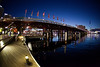 Pyrmont Bridge and Darling Harbour Just After Sunset