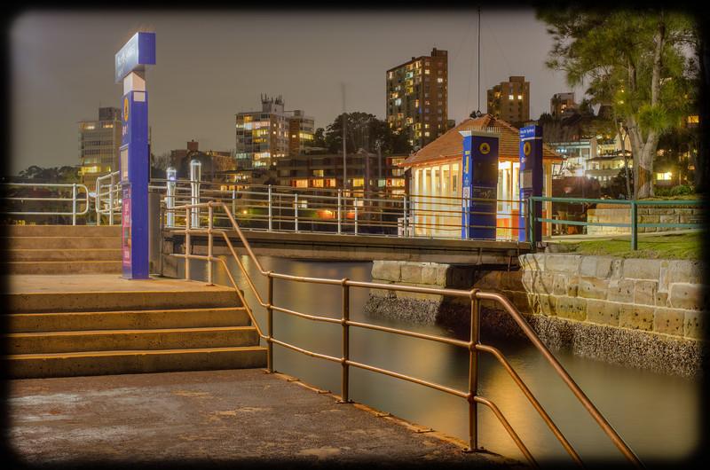 North Sydney Ferry Wharf at Night