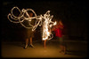 Playing with Sparklers at Night