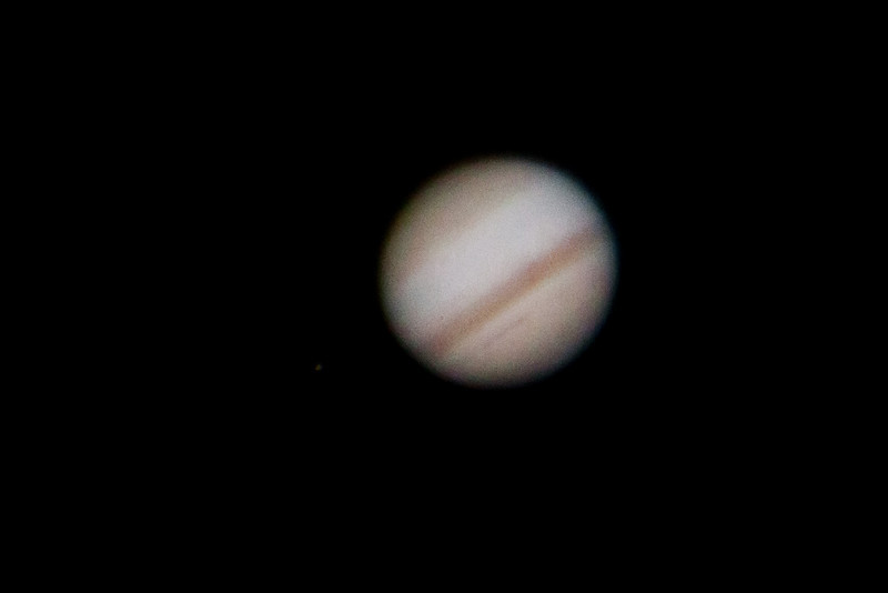 Jupiter with two Moons (Io and Ganymede)